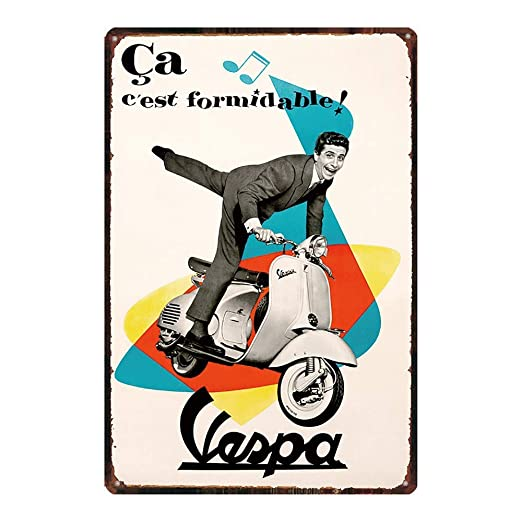 HALEY GAINES Vespa Electric Car Placa Cartel Póster de Pared ...