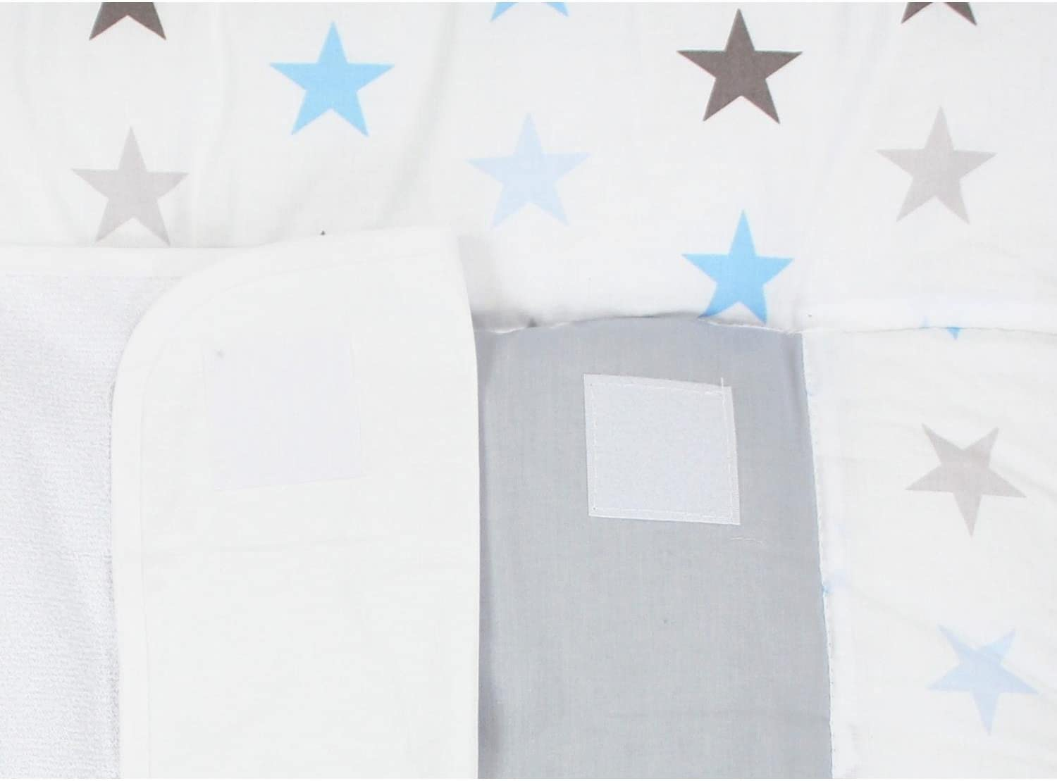 TupTam Baby Changing Mat with 2 Removable Terry Cloths 70 x 70 cm Drops Gray