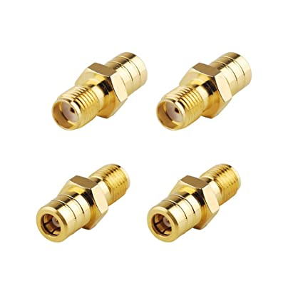 SaferCCTV(TM)(Pack of 4)RF Coaxial Coax Adapter SMA Female to