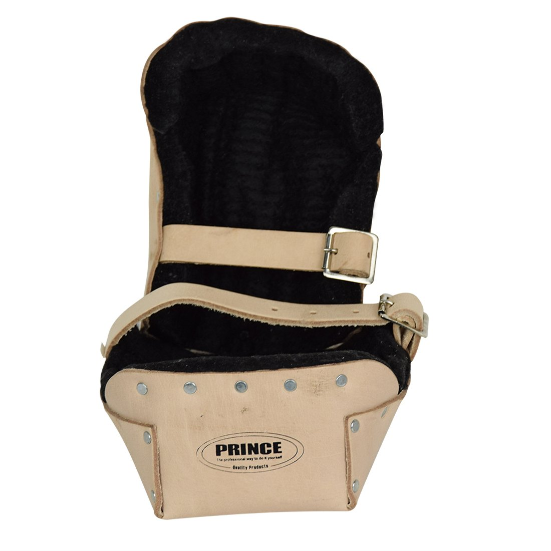 Prince P-309B Heavy Duty Top Grain Leather Kneepads with Thick Felt Lining for Construction by Prince (Image #3)