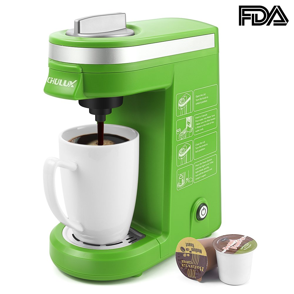 Amazon.com: CHULUX Single Serve Coffee Maker with Removable Drip ...