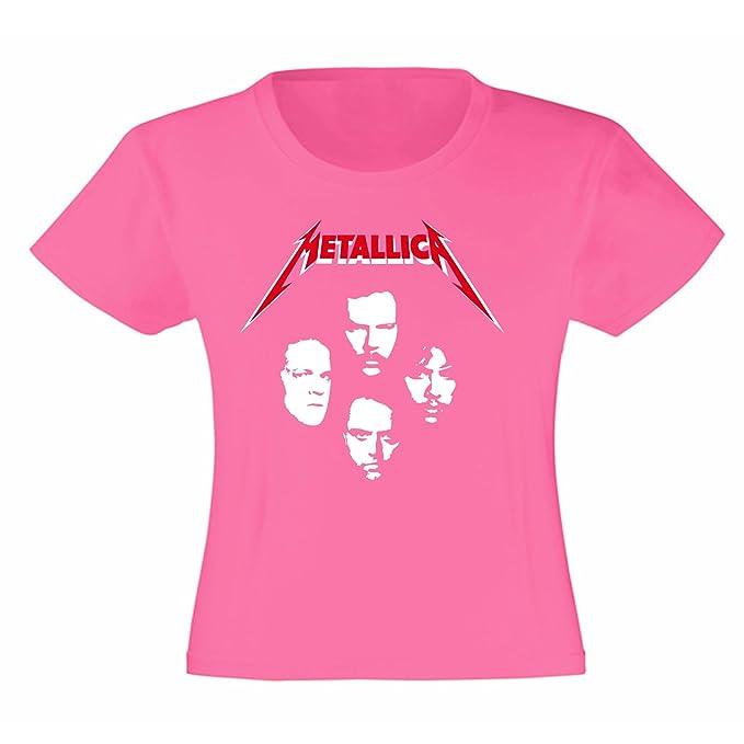 T Anni 8 Art FacesBambinaFucsia7 ShirtMaglietta Metallica rshtQdC