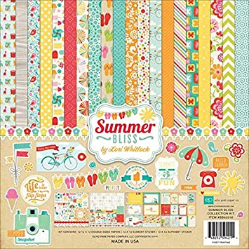 Amazon Echo Park Paper Companysb62016 Summer Bliss Collection