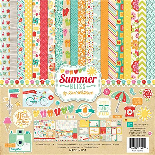 Echo Park Paper Company Summer Bliss Collection Scrapbooking Kit
