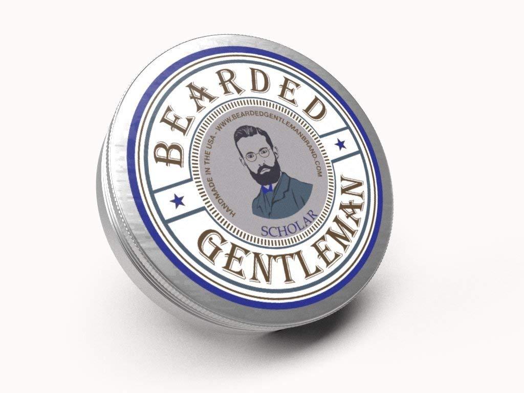 Bearded Gentleman - Beard Balm: Scholar - Vanilla & Tobacco   The Scholar   Natural   2 oz   Small Batch Handmade in the USA