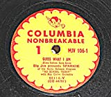 78 RPM, Big Jan & Sparkie, Guess What I Am, Columbia Unbreakable MJV 106, ca 1951