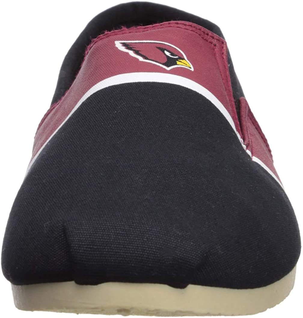 Mens FOCO NFL Mens NFL Canvas Stripe Shoe