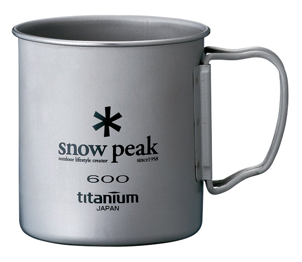600 ml MG-044R Snow Peak Titanium Single Wall Cup 600 Snow Peak Titanium Single 600 Wall Cup