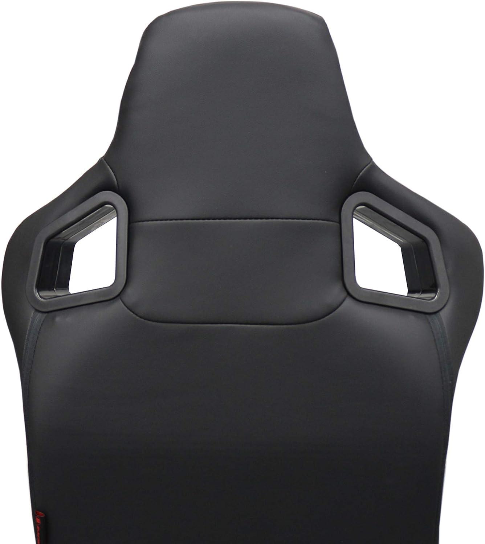 Conductor y Pasajero de Cuero Semibaquet Ajustable Ojos Negro Universal para Coche y Simulador de Conducci/ón con R/íeles incluidos MODAUTO Asiento Deportivo Coche Modelo N701R