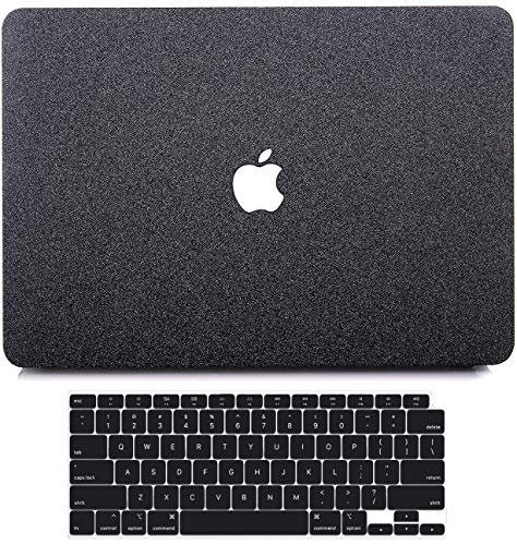 MacBook Air 13 inch Case 2020 2019 2018 Release A2337 M1 A2179 A1932 with Retina, B BELK Matte Glitter Sparkly Girly PU Leather Hard Shell Cover with Keyboard Cover for Mac Air 13 2020 with Touch ID