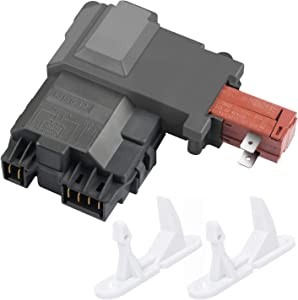 Siwdoy 131763202 Washer Door Lock Switch Assembly for Frigidaire, Electrolux 131763256,0131763202 131269400 131763200 AP4455026, with 2 PC 131763310 Strikers