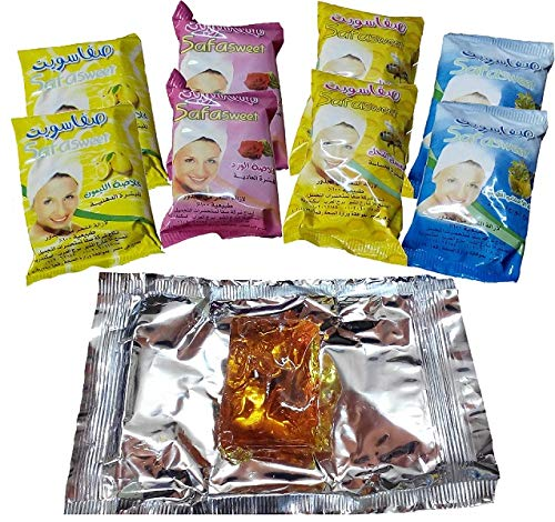 8 Sweet Packets 400 gm Sugaring Sugar Wax Hair Removal 100% Natural All Essence