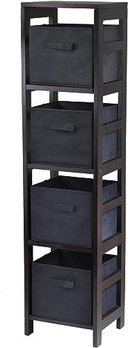 Winsome Wood Capri Wood 4 Section Storage Shelf