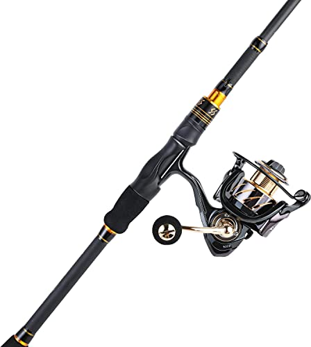 Sougayilang Fishing Rod and Reel Combos, Ultra Light 36 Ton Carbon Fiber Telescopic Spinning Fishing Pole with 13 1BB Smooth Spinning Fishing Reel for Travel Fishing
