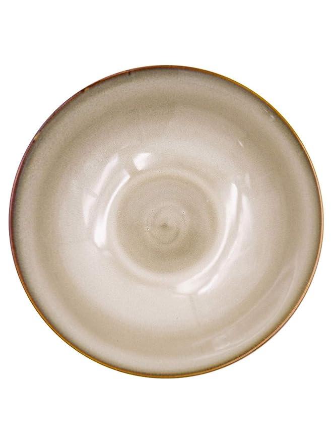 Snack Dip Bowls Vajilla Ensalada marrón Postre Tazón Retro Plato ...