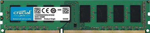 49 opinioni per Crucial 16GB Kit (8GBx2) DDR3L 1600 MT/s (PC3L-12800) UDIMM 240-Pin-