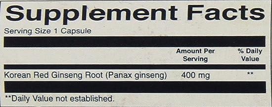 Swanson Premium Full-Spectrum Korean Red Ginseng Root 400 mg 90 Caps – Pack of Two