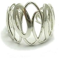 Elegant anillo plata de ley sólido 925 tamaño ajustable R001641