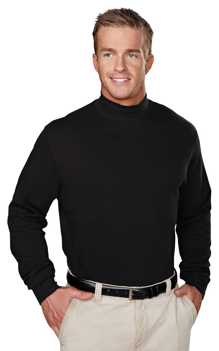 Tri-Mountain 100% Cotton Golf Cut Spandex Stretch Shirt - 620 Graduate, Black, XX-Large