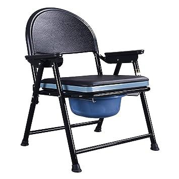 Commode Chair Yuehg Silla De Inodoro Plegable con Reposabrazos Y Respaldo Adecuado para Mujeres Embarazadas Ancianos