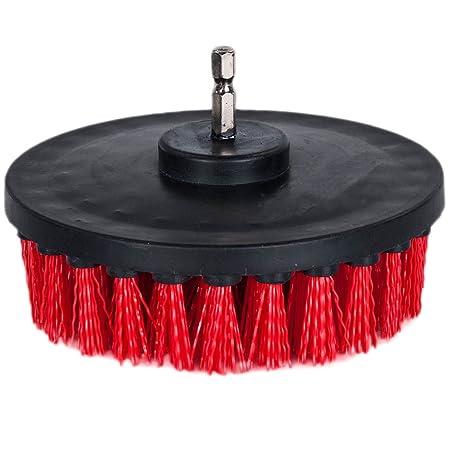 Cepillo para taladro OxoxO. Cepillo accesorio de dureza media para limpieza de duchas, bañeras, azulejos, lechadas, alfombras, ladrillos, ...