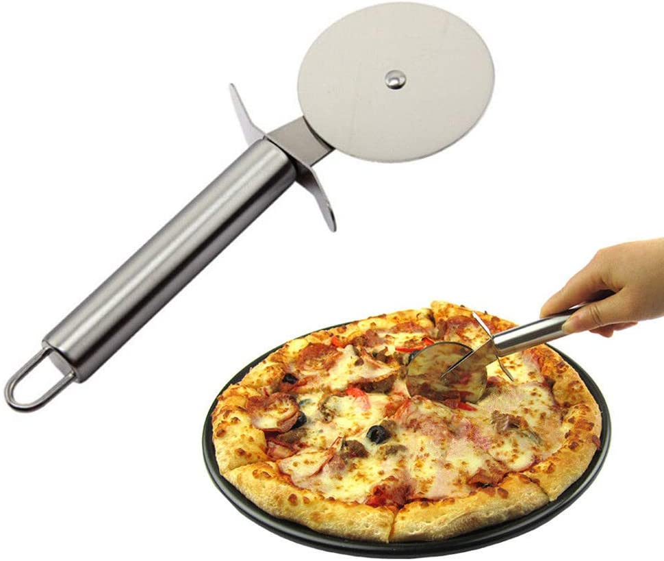Cortapizzas de Acero Inoxidable 20cm EUROXANTY/® Cortador de Pizza 1 Unidad