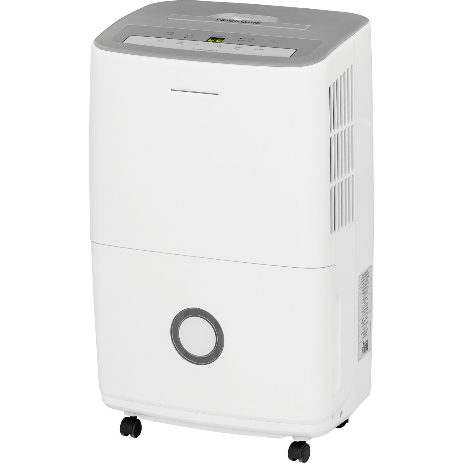 Frigidaire 70-Pint Dehumidifier with Effortless Humidity Control White FFAD7033R1