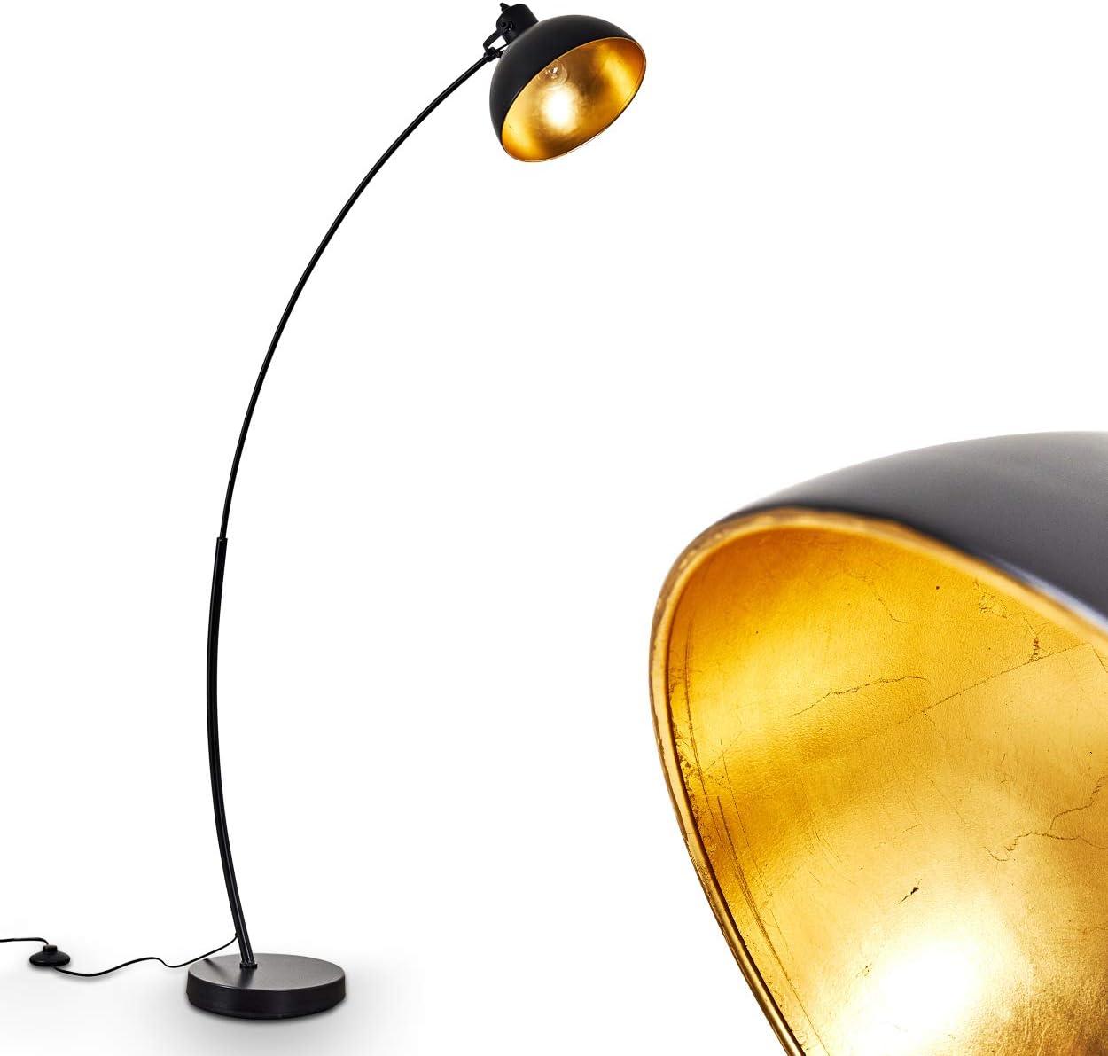 Stehlampe Parola Vintage Stehleuchte Mit Lampenschirm In Gold