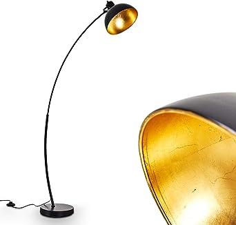 Lámpara de pie Parola en oro negro - Lámpara de pie Vintage ...