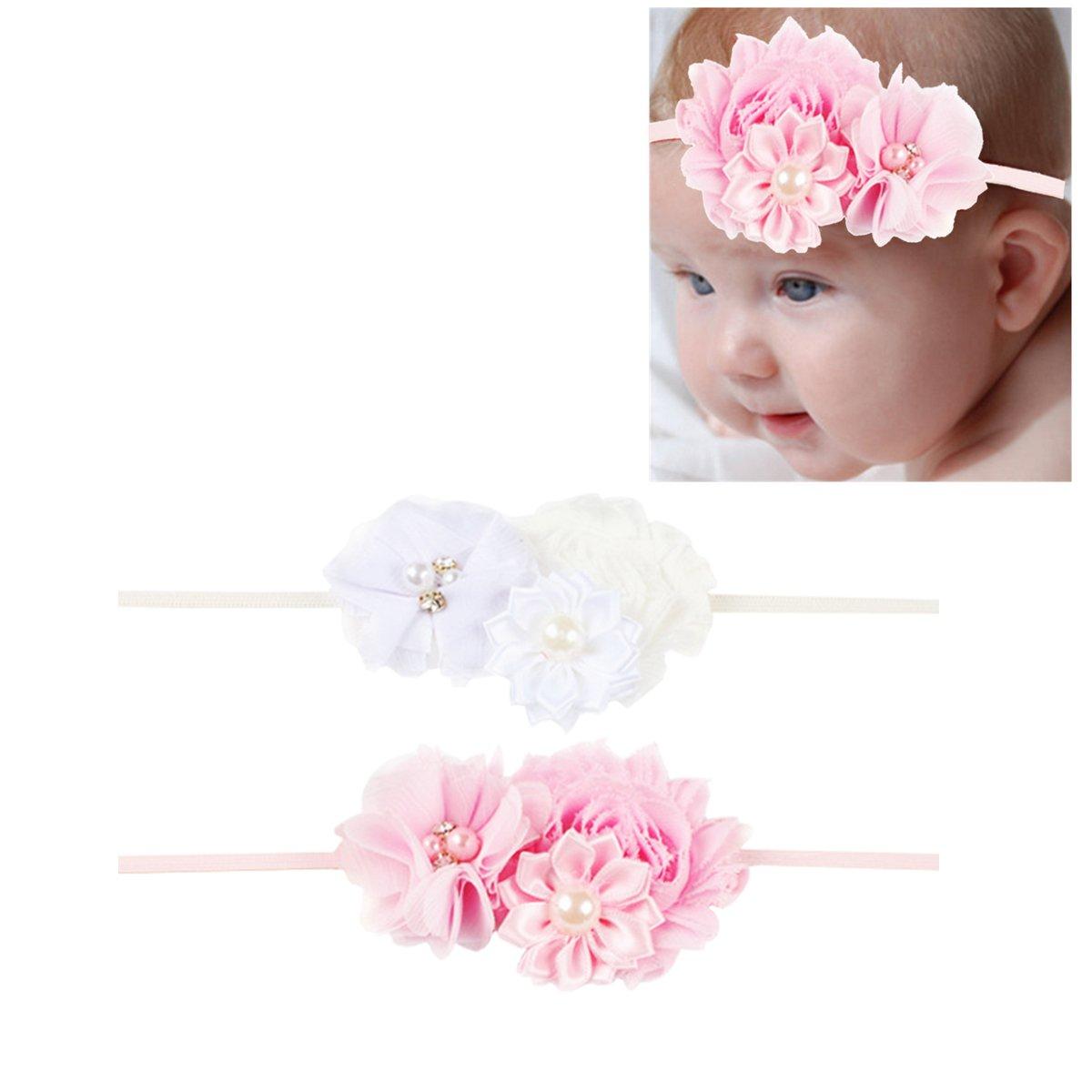 Hocaies Ni/ñas beb/és vendas de la flor Fotograf/ía Atrezzo Diadema Accesorios