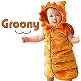 グルーニー シルキータッチ スリーパー ライオン柄 着ぐるみ 子供服 ベビー服 洗える 着丈58cm Mサイズ
