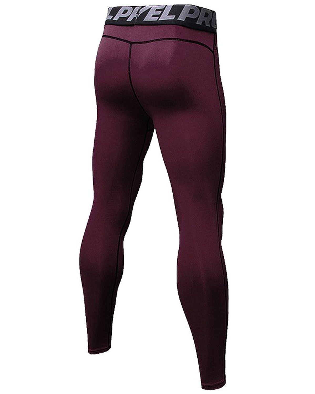 SANANG Pantaloni da compressione da uomo da 3 pezzi Calzamaglia da allenamento Coolay Sports Dry Collant