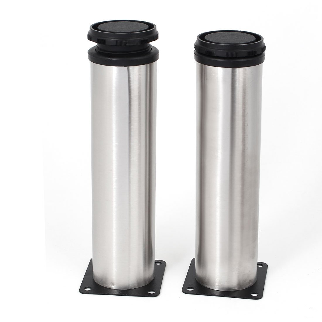 Uxcell a16041500ux1525 Adjustable Cabinet Leg Stainless Steel Adjustable Furniture Cabinet Leg 200Mm Height 2Pcs