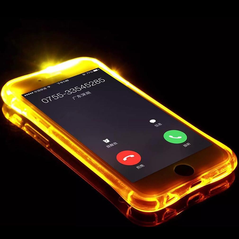 Funda de silicona para tel/éfono m/óvil con LED que se ilumina intermitentemente con las llamadas entrantes. TaotTao