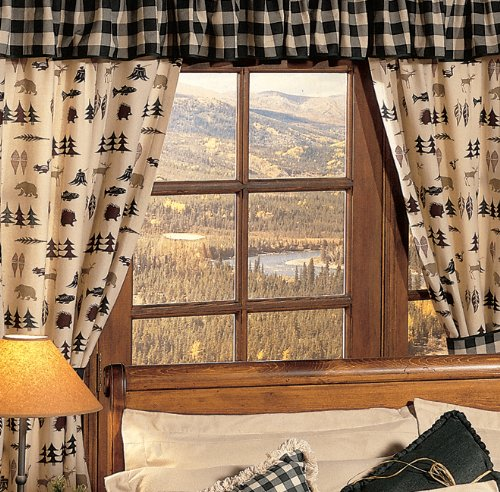 - Northern Exposure Window Cabin Valance - Wilderness Bedding Decor