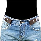 Buckle-less No Bulge Belt for Women, No Buckle and Hassle Women Invisible Belts (wasit22'' - 40'', Angel)