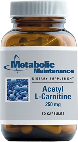 Metabolic Maintenance Acetyl L-Carnitine – 250 Milligrams, Antioxidant, Cognitive Memory Support 60 Capsules