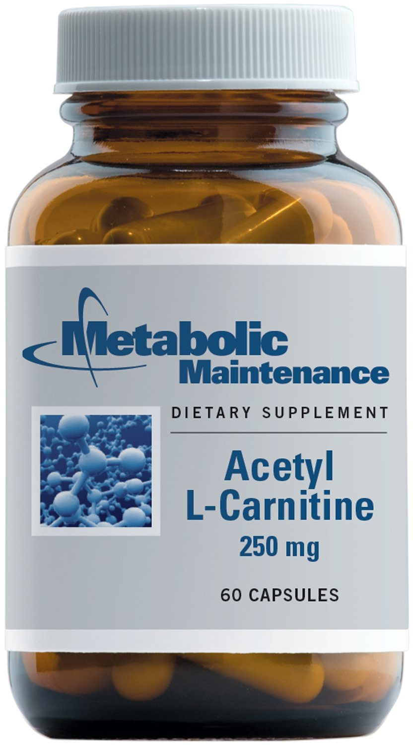 Metabolic Maintenance - Acetyl L-Carnitine - 250 mg, Antioxidant + Cognitive Support, 60 Capsules