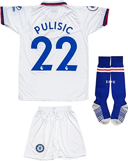 KID BOX Brazil Neymar JR #10 Away Blue Football Soccer Kids Jersey Short Socks Set Youth Sizes