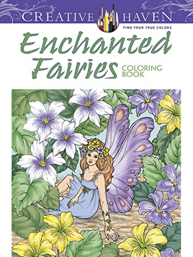 Creative Haven Enchanted Fairies Coloring Book (Adult - Single Cards Christmas Guy