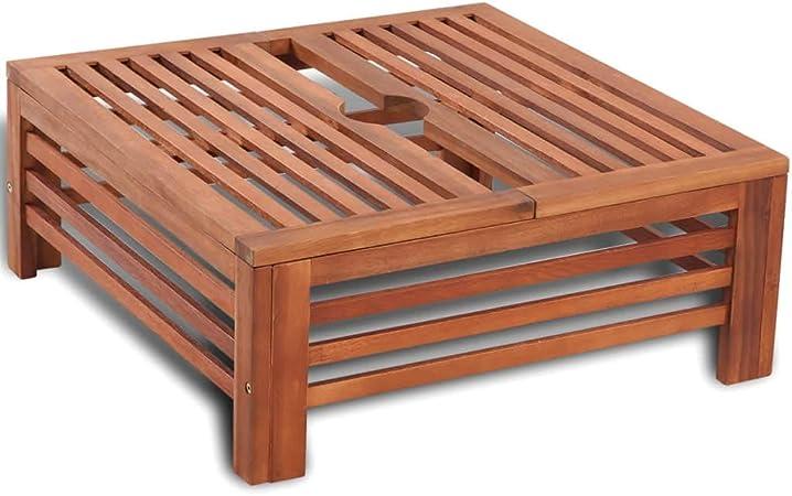 vidaXL Mesita y soporte de madera para la sombrilla: Amazon.es: Hogar