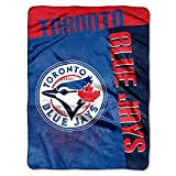 "The Northwest Company Toronto Blue Jays 60""x80"" Royal Plush Raschel Throw Blanket - Strike Design"