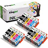 Kingjet 15 Pack PGI-220 CLI-221 Ink Cartridges Replacement Compatible with PIXMA IP3600 IP4600 IP4700 MX860 MX870 MP560 MP620 MP620B MP640 MP980 MP990 PMFP1 PMFP3 SFP1 SFP2 Printer (3 Sets)