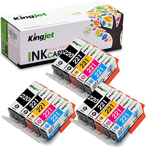 - Kingjet Compatible Ink Cartridge Replacement for PGI-220 CLI-221 Work with PIXMA IP3600 IP4600 IP4700 MX860 MX870 MP560 MP620 MP620B MP640 MP980 MP990 PMFP1 PMFP3 SFP1 SFP2 Printer, (3SET)