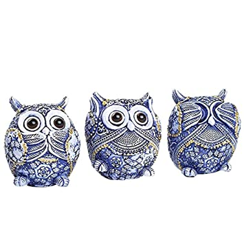 Owl Figurine With Different Gestures,Cute Statue,Adorable Decoration Home Office