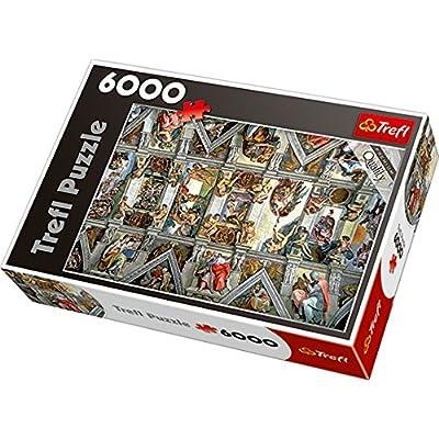 Trefl 65000 - Puzzle - Chapelle Sixtine au plafond - 6000 Pièces