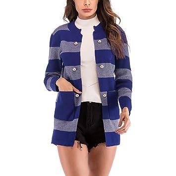 Niña Invierno fashion Abajo chaqueta,Sonnena ❤ Cárdigan de punto de rayas casual mujer
