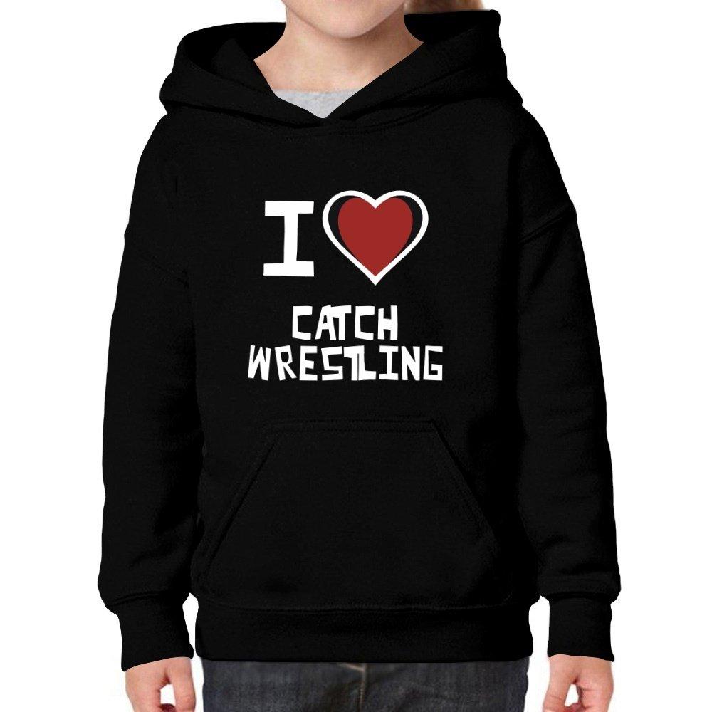 Teeburon I Love Catch Wrestling Girl Hoodie