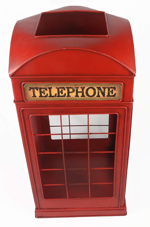 Middle-England 48cm Red Telephone Box Umbrella Walking Stick Stand Metal Decorative