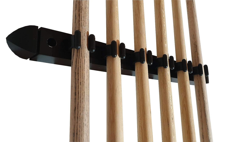 John West Set da Biliardo Composto da Supporto da Parete e 4 Stecche da Biliardo Professionali 2 Stecche da Ponte